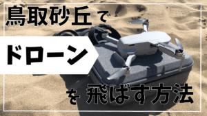 鳥取砂丘でドローンを飛ばす